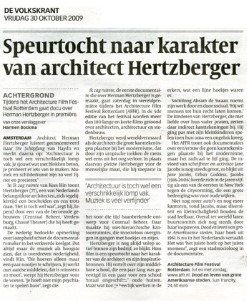 2009 - Search for architect Hertzberger's character